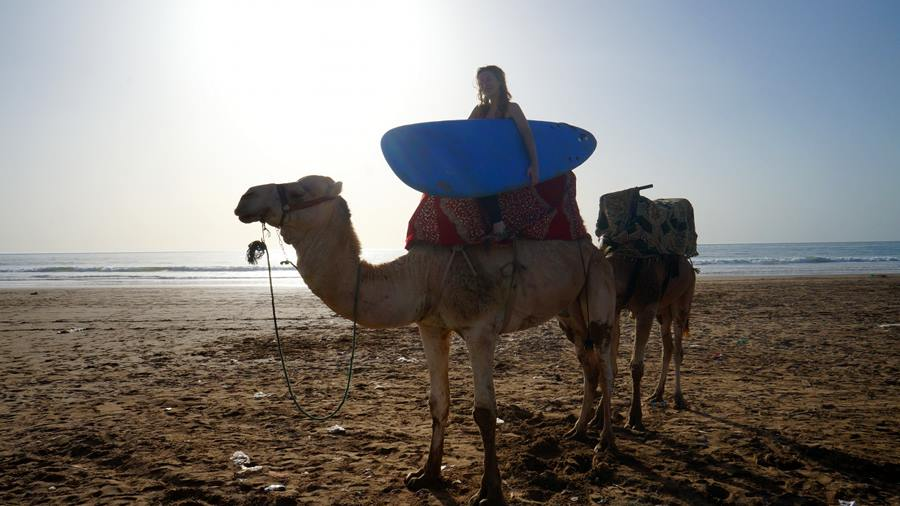 yoga and surfing in morocco!