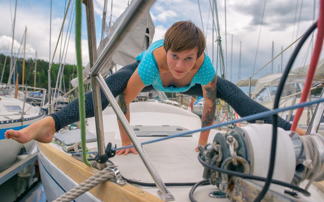yogini goes sailing